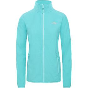 The North Face 100 Glacier Full-Zip Jacket Women mint blue stripe